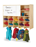 Kids Wall Mounted 10-Section Locker Made with Baltic Birch