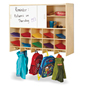 Kids Wall Mounted 10-Section Locker with Coat Hooks