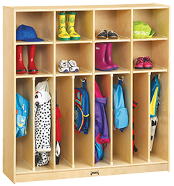open faced lockers for daycare centers