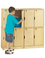 Childrens Double Stacked Classroom Locker