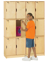 Triple Stacking Kids Lockers with Individual Keys