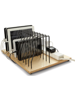Desktop Tablet Charging Station with Adjustable Dividers