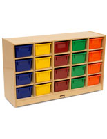 Wooden Childrens Cubbie Tray Storage
