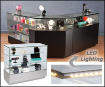 Display Counter with LED Lights