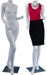store mannequins to display clothes