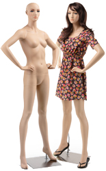 store mannequins are male and female dress forms