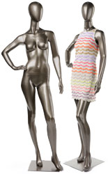 Store Fixture Mannequins with Abstract Features