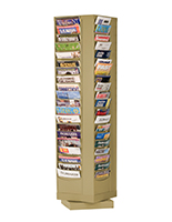 80 Pocket Revolving Literature Display Metal Magazine Rack