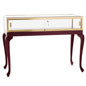 queen ann display tables solid wod base cherry finish