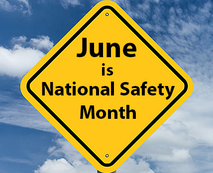 June is National Safety Month...make the workplace a safer environment for your employees with these safety signs and supplies!