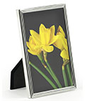 Silver Plated Picture Frame, Made of Steel with a Glass Lens