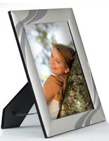 Silver Picture Frames That Have Chrome Accents