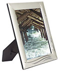 "5"" x 7"" Silver Photo Frame for Tabletop Use"