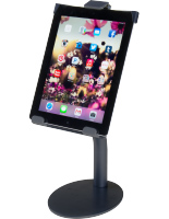 Black iPad Countertop Mount with Tilting Enclosure