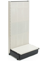 Single Sided Wall Gondola Shelving