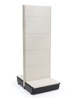 Gondola Retail Shelving with Slotted Design