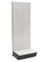 Single Sided Supermarket Gondola Shelving
