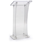 Collapsible Acrylic Podium, Floor Standing