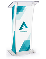 UV Modern Lectern with Custom Design for Schools