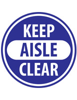 Keep Aisle Clear