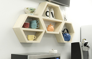 Wall Mounted Shelving in Kitchen Environment