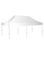 10x20 white pop up event tent with 200 square feet of shade