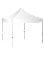 5x5 pop up canopy with white polyester topper