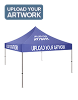 10 x 10 custom event tent with custom printed graphics