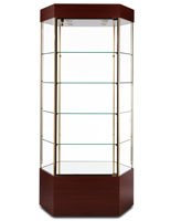 hexagonal display cabinet
