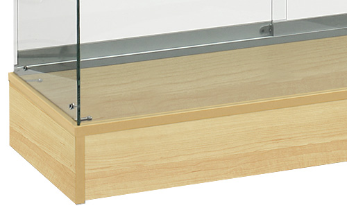 Display Cases with Engineered Wood Finishes