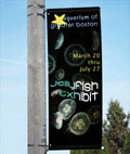 Lamp Post Banner is Crafted from Vinyl for Outdoor Use