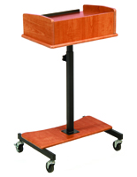 Cherry Laptop Lectern with Tiltable Surface