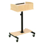 Maple Laptop Lectern with Casters