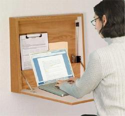wall mounted folding desk oak finish. Black Bedroom Furniture Sets. Home Design Ideas