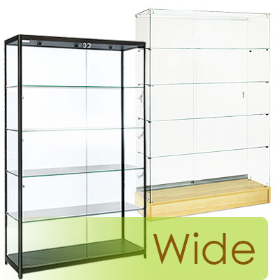 Large-format cabinets up to 72 inches wide