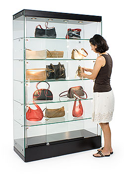 Extra wide display cabinets