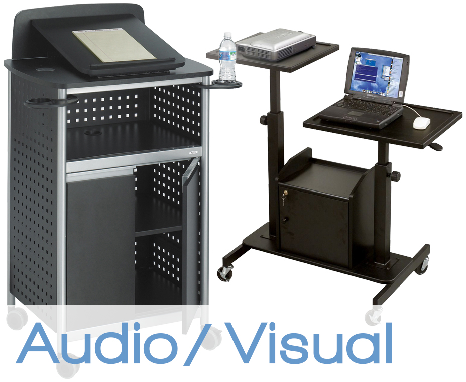 a/v stands and carts
