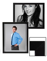 black wood photo frames