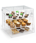 These acrylic display cases are commonly used in bakeries!