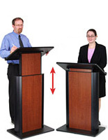adjustable podium