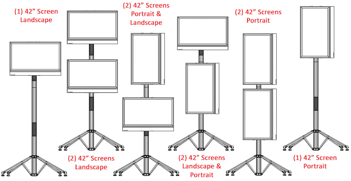 ... These LED TV Stands Are Adjustable To Hold Different Sizes Of Monitors