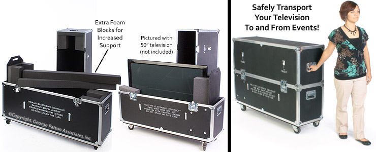 Monitor Case Foam Line For Protection Amp Wheels For