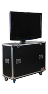 TV Flight Case with 4 Casters