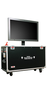 LCD Shipping Case with 4 Casters