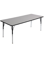 Rectangular School Table with Gray Top