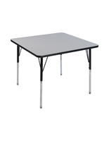 Height Adjustable Square Cafeteria Table