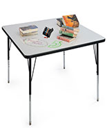 Dry Erase Table with Easy-to-Clean Surface
