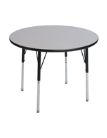 Gray Round Breakroom Table