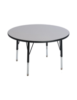 Round Activity Table with Height Adjustable Legs