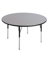 "Round School Table with 20"" to 31"" Height Range"